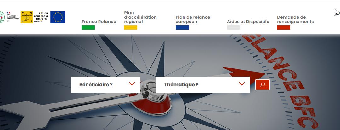 Un site internet régional dédié : relance-bfc.fr