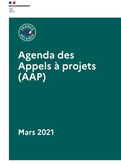 Agenda des appels à projet du plan de relance
